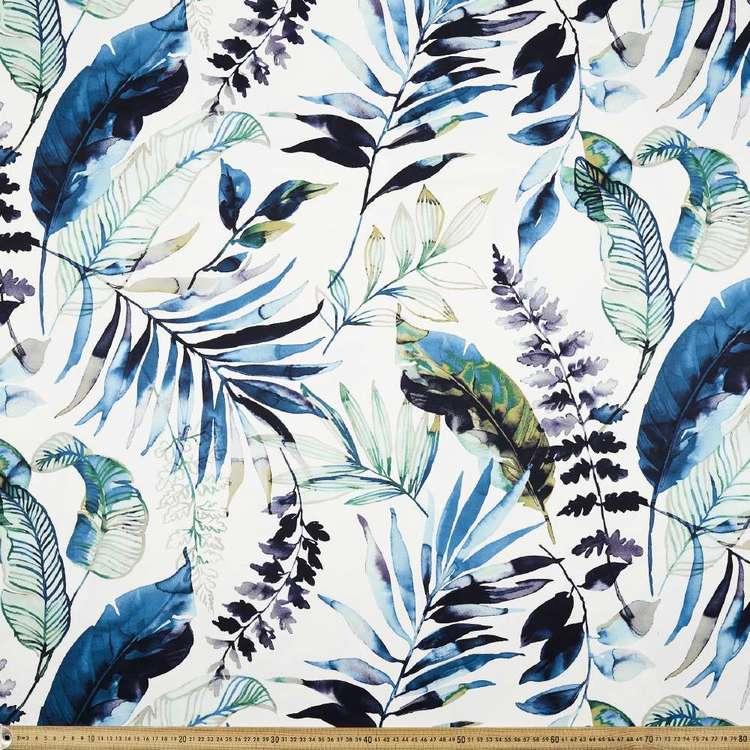 Watermark Palm Printed Cotton Sateen Fabric