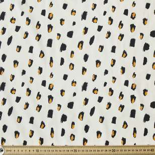 Cheeta Stamp Printed Cotton Poplin Fabric