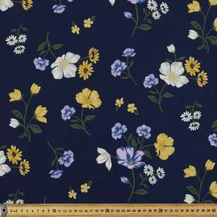 Falling Floral Printed Country Garden Polyester Fabric