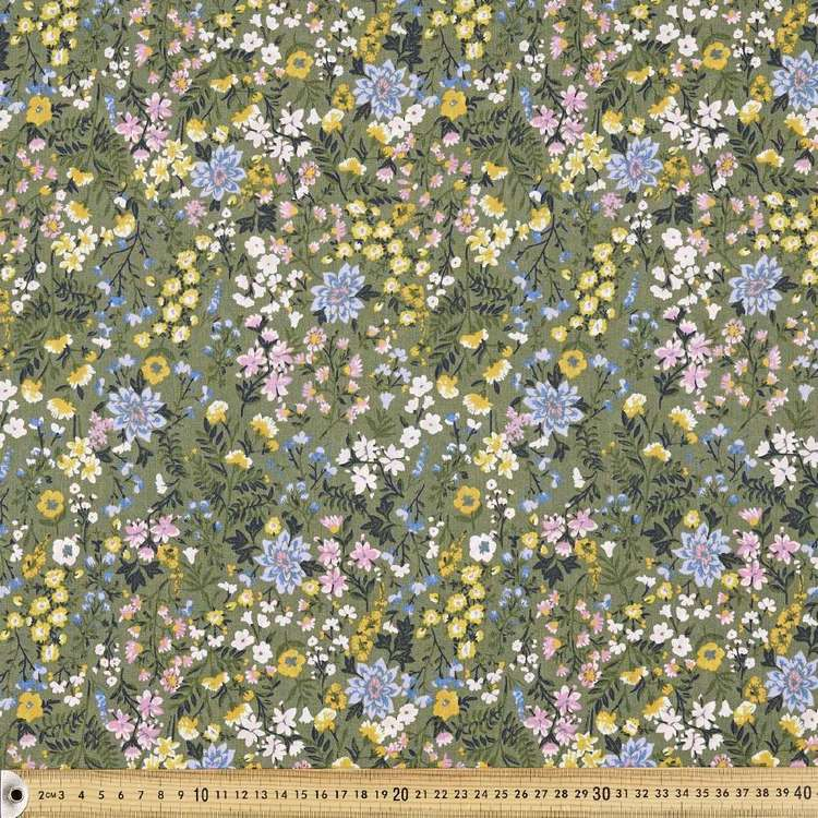 Country Garden Printed Cotton Polyester Fabric