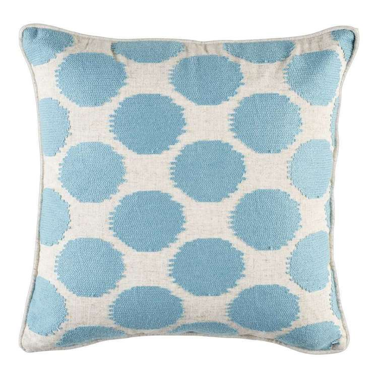 KOO Home Geo Embroidered Cushion