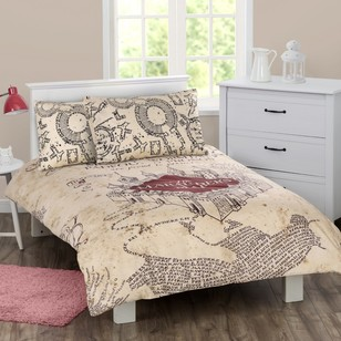 Harry Potter Marauder's Map Quilt Cover Set