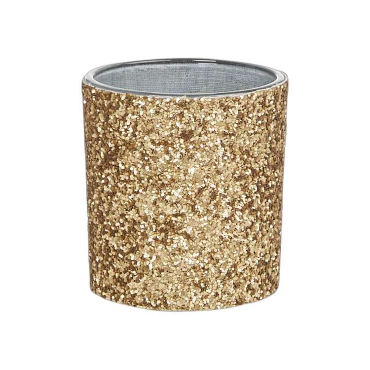 Living Space Xmas Glitter Candle Holder