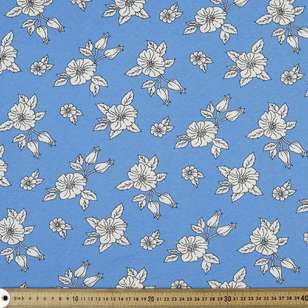 Field Flower Printed Cotton Linen Jersey