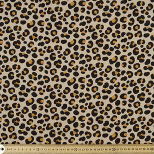 Leopard Printed Cotton Linen Jersey