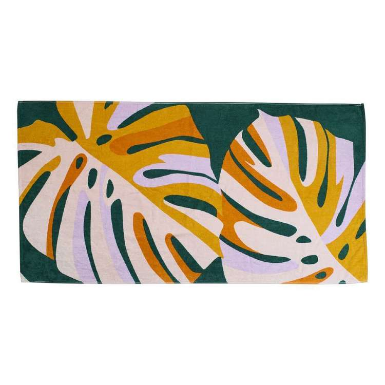 KOO Monstera Beach Towel Monstera 80 x 160 cm