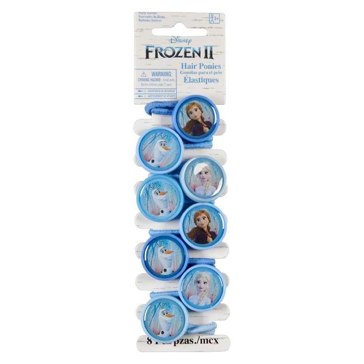 Frozen 2 Hair Ponies 8 Pack
