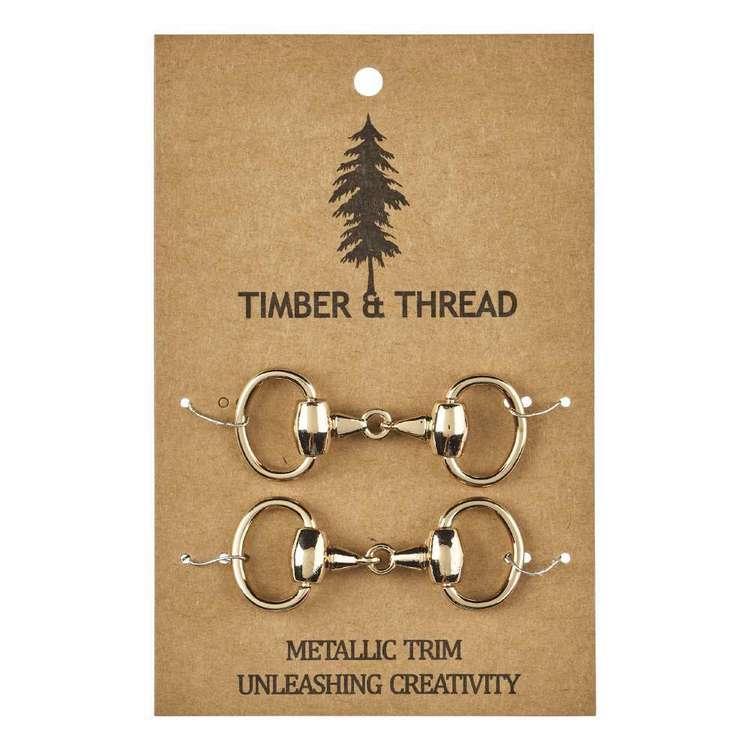 Timber & Thread Metallic Buckle # 1