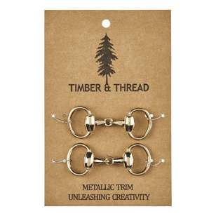Timber & Thread Metallic Buckle # 1