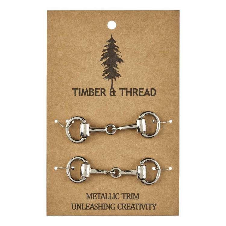 Timber & Thread Metallic Buckle # 3