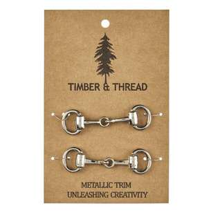 Timber & Thread Metallic Buckle # 3