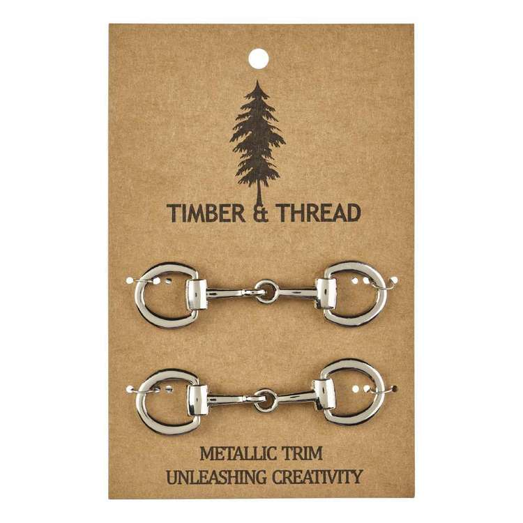 Timber & Thread Metallic Buckle # 4