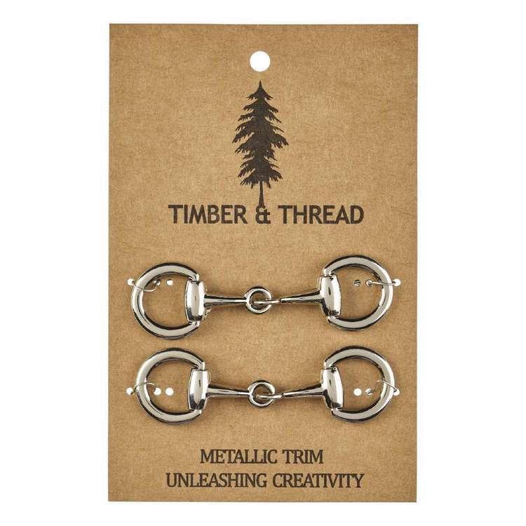 Timber & Thread Metallic Buckle # 5