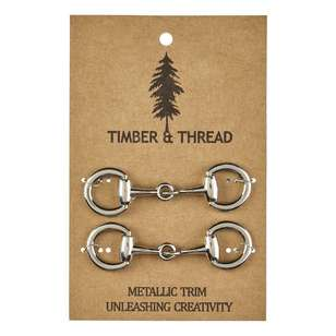 Timber & Thread Metallic Buckle # 5