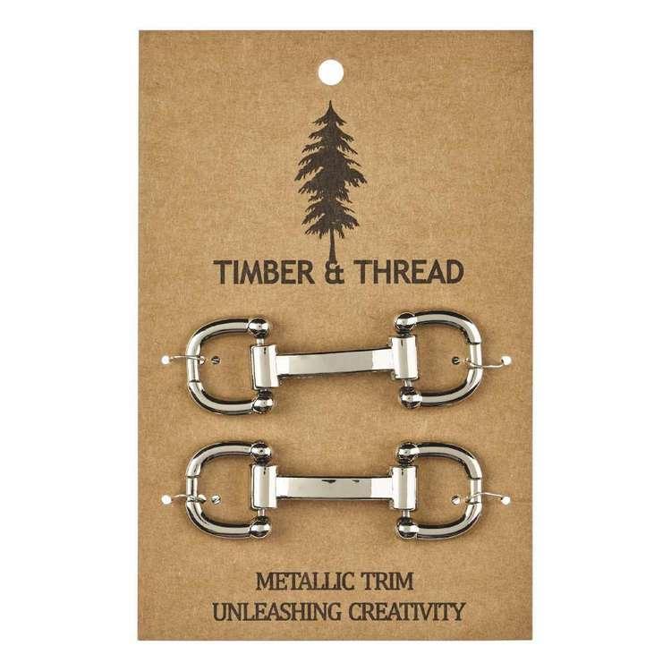 Timber & Thread Metallic Buckle # 6