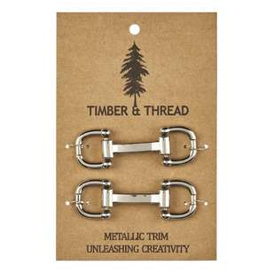 Timber & Thread Metallic Buckle # 6