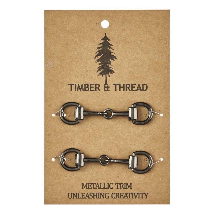 Timber & Thread Metallic Buckle # 7