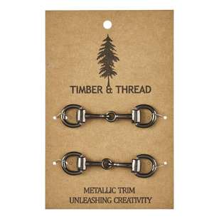 Timber & Thread Metallic Buckle # 7