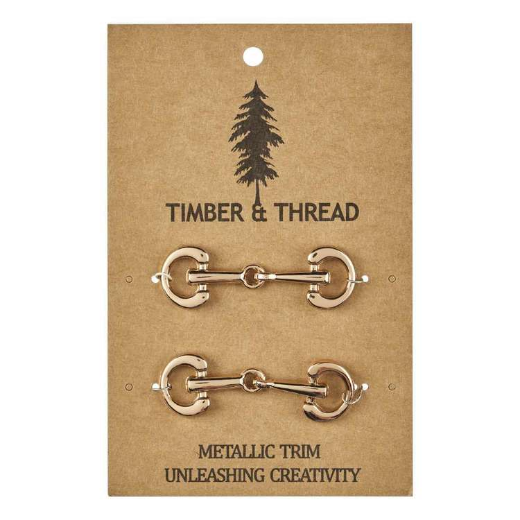 Timber & Thread Metallic Buckle # 8