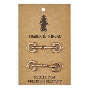Timber & Thread Metallic Buckle # 8