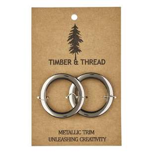 Timber & Thread Metallic Buckle # 9