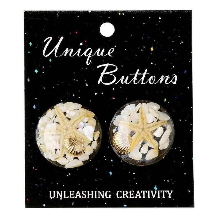 Unique Buttons Starfish