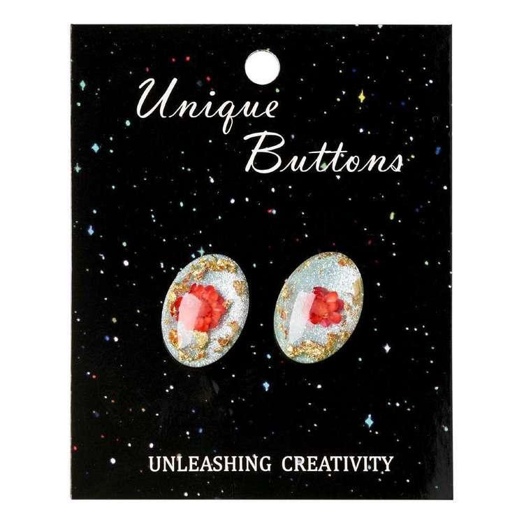 Unique Buttons Flower # 3