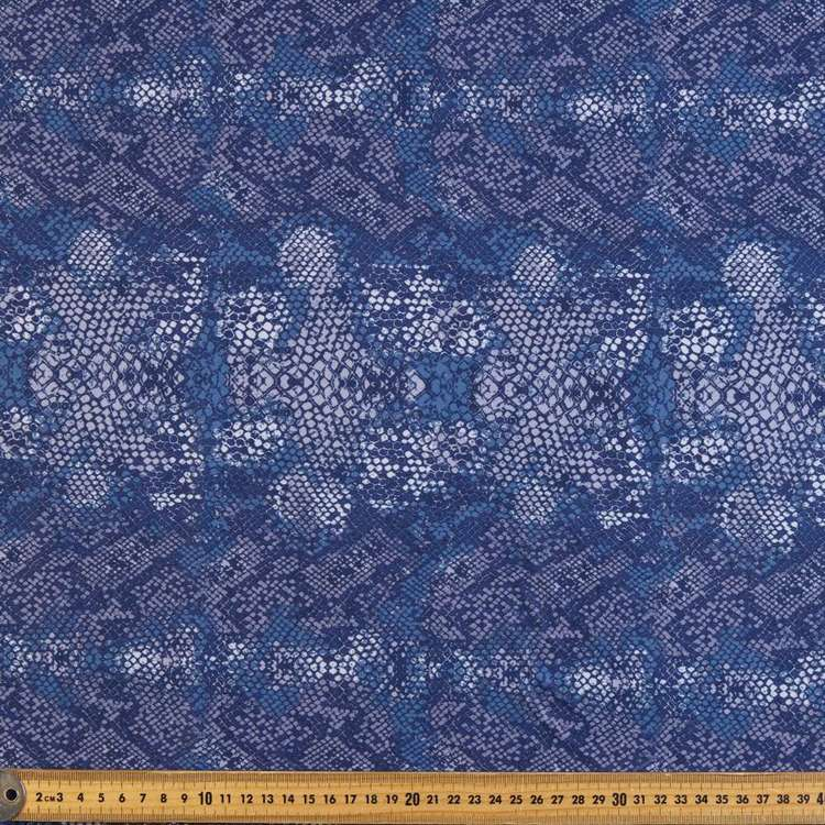 Light Snake Printed Power Hold Stretch Fabric