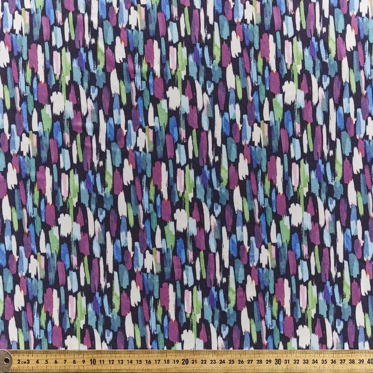 Paint Brush Printed Power Hold Stretch Fabric