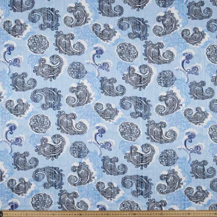Paisley Printed Chiffon Lurex Fabric