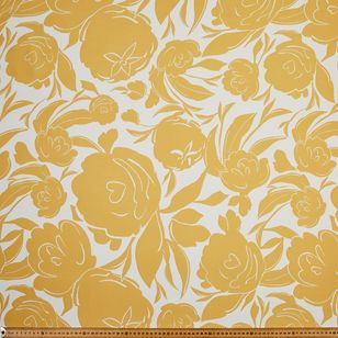 Flower Printed Poly Satin Fabric