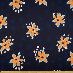 Lily Printed Poly Satin Fabric