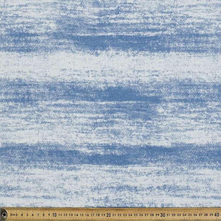Stripe Printed Denim Fabric