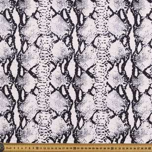 Snake Skin Printed Cotton Sateen Fabric