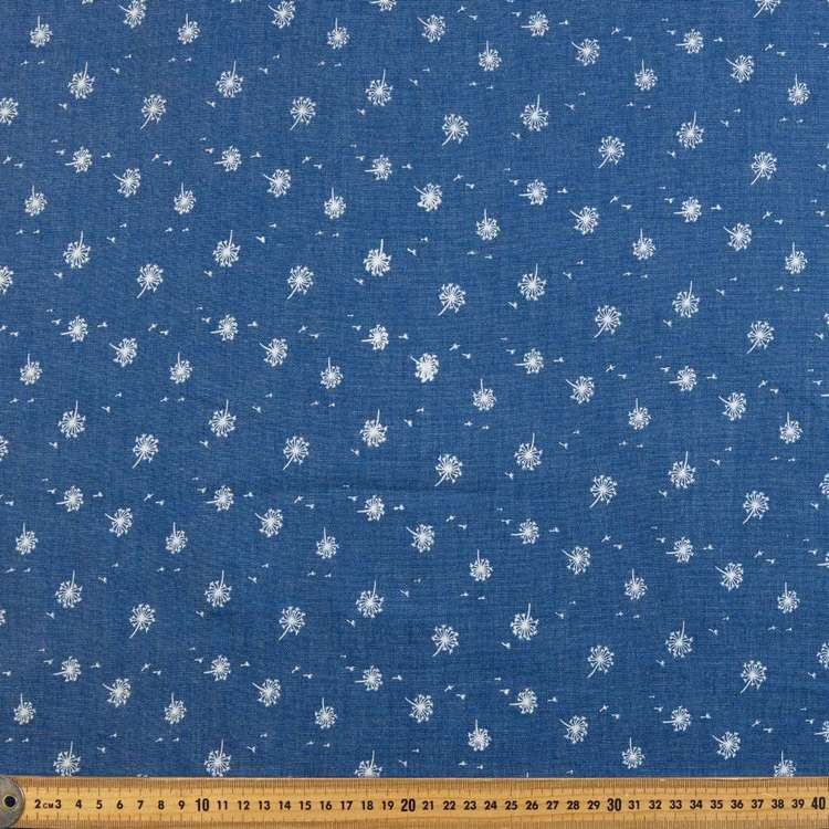 Dandelion Printed Denim Fabric