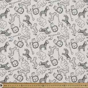Animal Crackers Printed Muslin Fabric