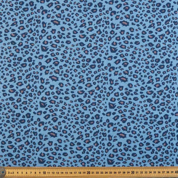 Animal Printed Denim Fabric