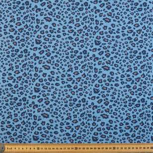 Animal Printed Denim Fabric