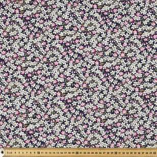 Frangipani Flock Oriental TC Cotton Polyester Fabric