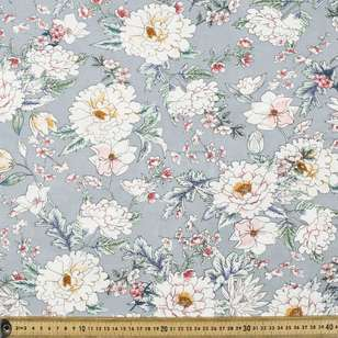 Tea Party Printed Rayon Fabric
