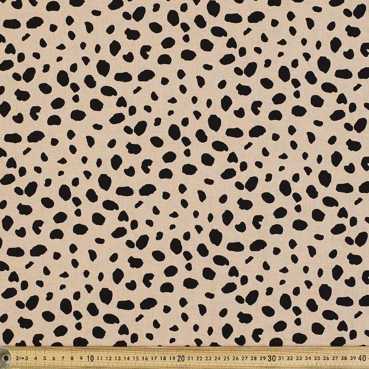 Animal Patch Printed Cotton Linen Fabric