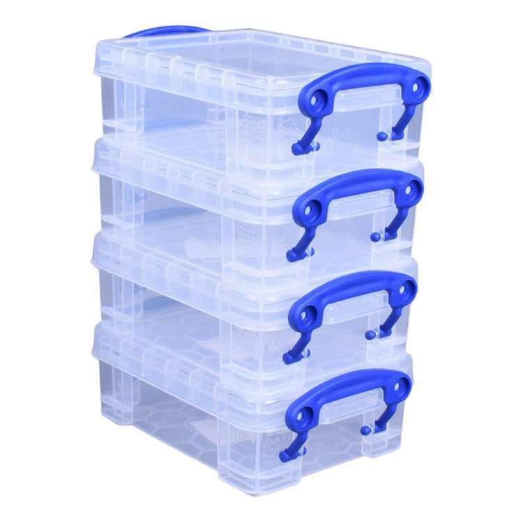 Really Useful Box With Snap lock 4 Pack