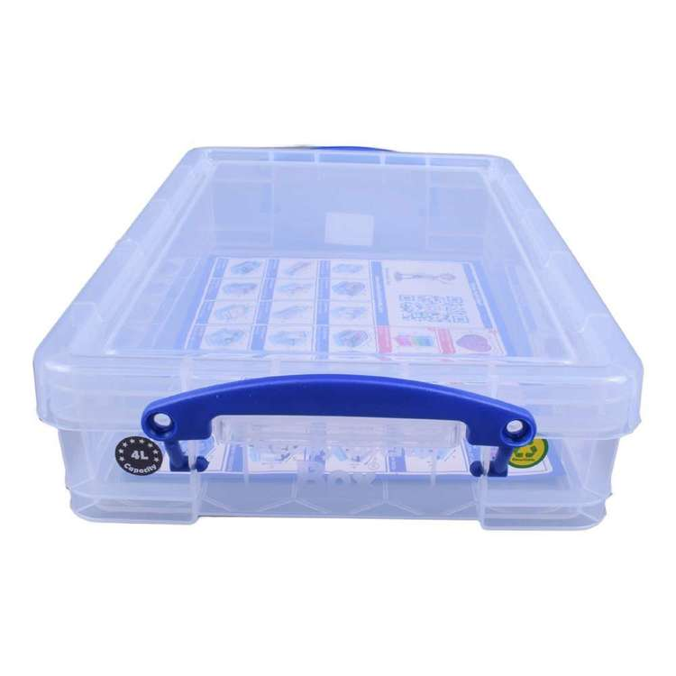 Snap Lock 4L Hobby Storage Box Clear