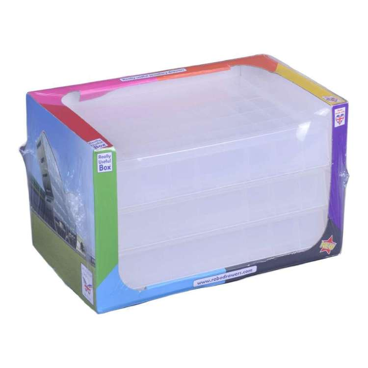 Really Useful Box Bead Storage With 3 Drawers Clear