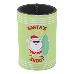 Christmas By Ladelle Santa Shout Stubby Holder