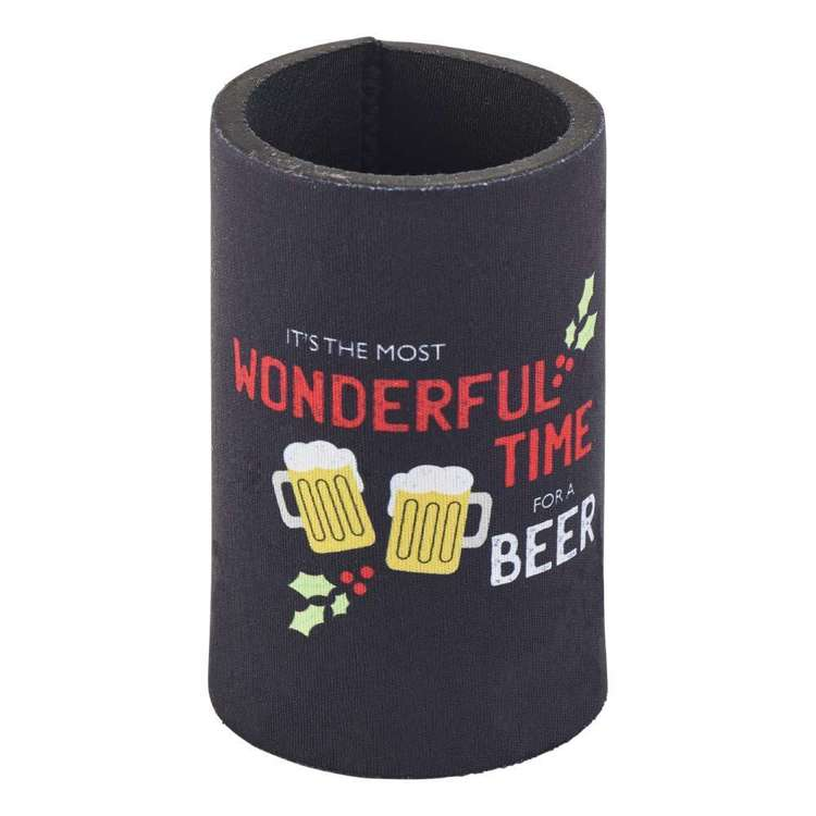 Christmas By Ladelle Beer Time Stubby Holder
