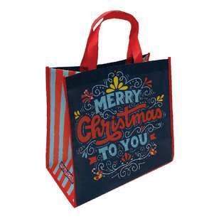 Spotlight Santa Text Shopping Bag