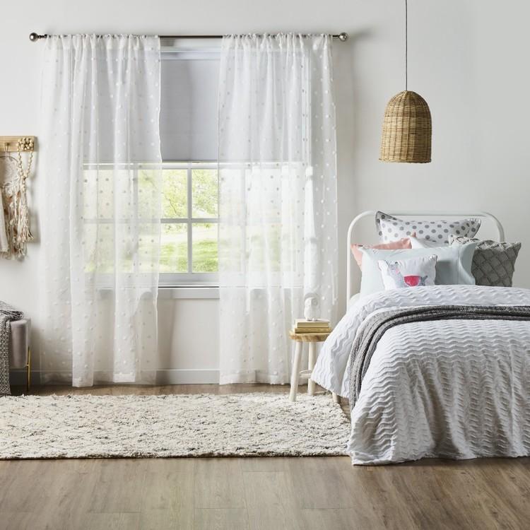 KOO Poppy Rod Pocket Sheer Curtains