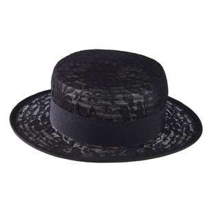 Maria George Lace Boater Hat