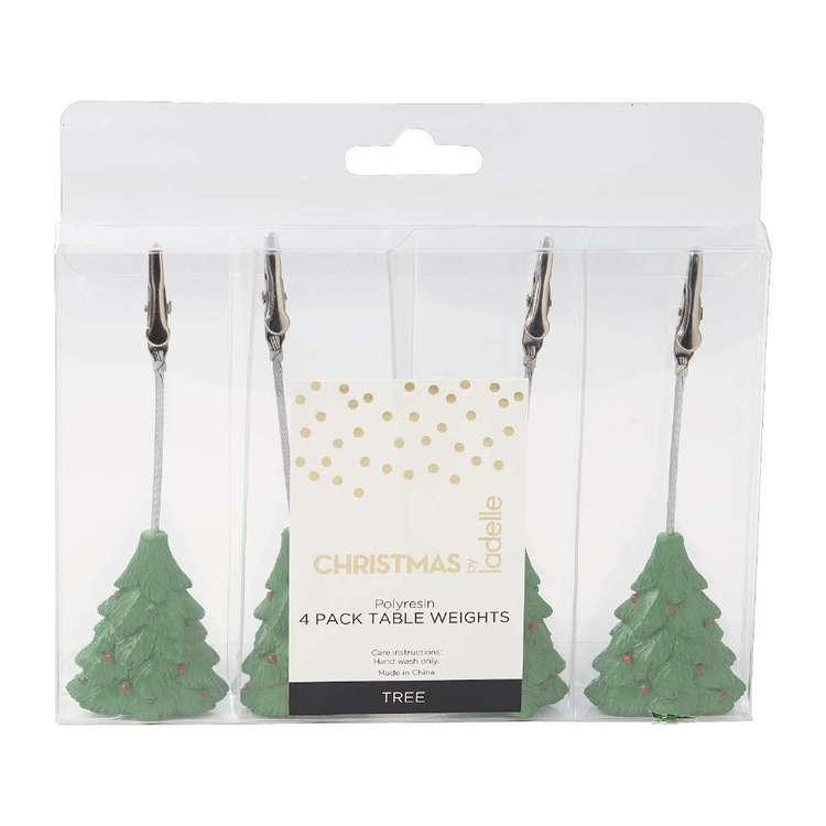 Christmas By Ladelle Tree Table Weights 4 Pack